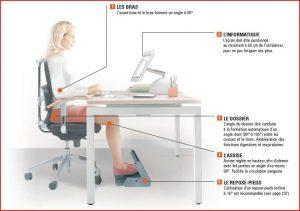 Ergonomie au bureau : la position à adopter assis