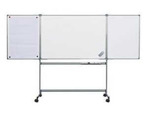 Tableau blanc mobile effaçable triptyque