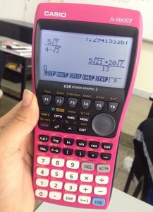 Calculatrice graphique casio rose