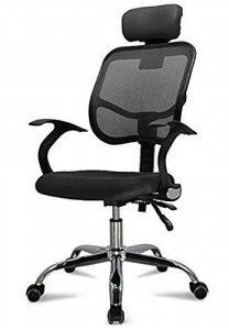 Fauteuil de bureau ergonomique noir